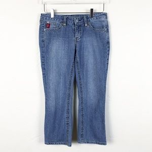 Vintage Guess Cropped Jeans Low-Rise Straight Leg
